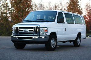 15 passenger van - white cargo van