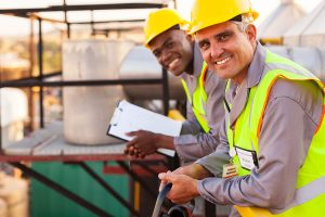 behavior based safety - construction workers smiling