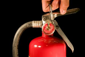 fire extinguisher safety - close up fire extinguisher