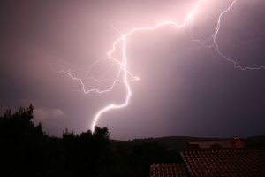 severe weather - lightning during a storm