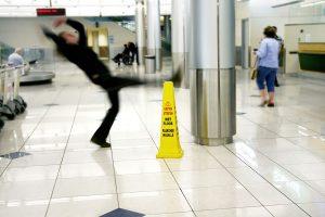 slips, trips, and falls - slipping on wet floor