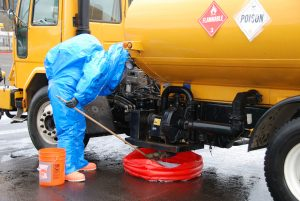spill response - toxic spill cleanup crew