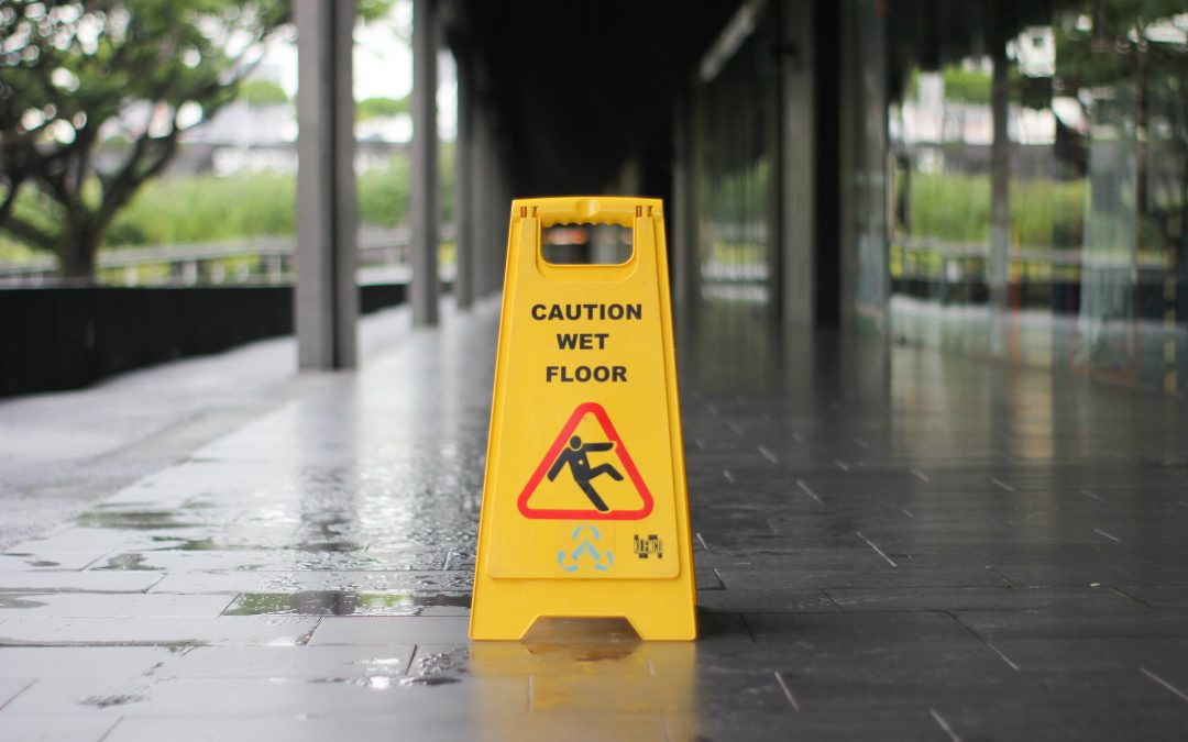 caution workplace falls